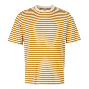 Folk T-Shirt | FM5243J Ecru / Golden Yellow Stripe