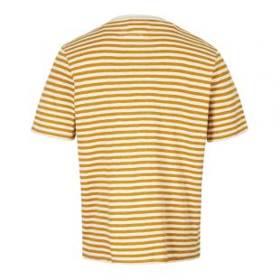 T-Shirt – Ecru / Golden Yellow Stripe