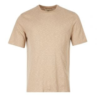 Folk T-Shirt | FM5244J Stone / Ecru Stripe