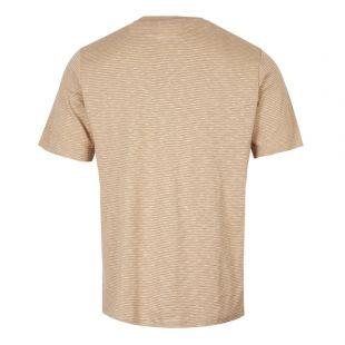 T-Shirt – Stone / Ecru Stripe
