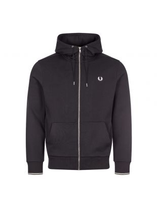 Fred Perry Zipped Hooded Sweatshirt | Black