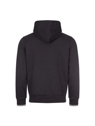 Zipped Hooded Sweatshirt - Black