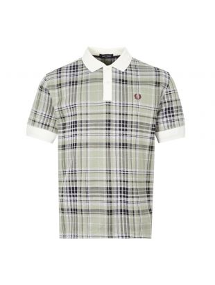 fred perry polo shirt jacquard | M8547 129 snow white green