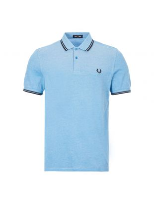 Polo Shirt Twin Tipped -  Wave White / Blue