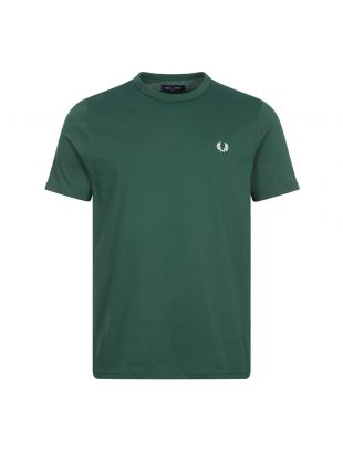 Fred Perry Ringer T-Shirt | Ivy Green