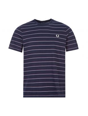 Fred Perry T-Shirt Stripe | M8532 608 Navy | Aphordite1994