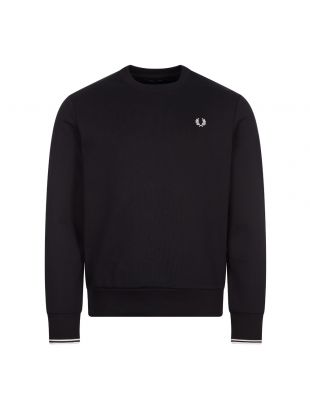 Fred Perry Crew Neck Sweatshirt | Black