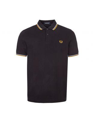 Fred Perry Polo Shirt Twin Tipped | M3600 J74 Black | Aphrodite1994