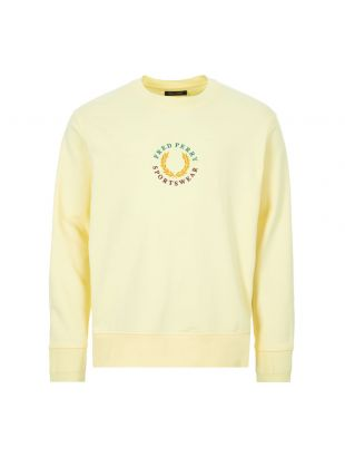 fred perry sweatshirt global branded | M8602 J87 butter icing