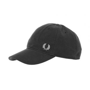 Fred Perry Pique Cap HW3650|464 Black At Aprodite Clothing