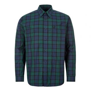 fred perry tartan shirt M7608 145 green