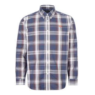 Fred Perry Twill Check Shirt M7567|963 In Blue At Aphrodite Clothing