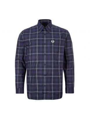 fred perry tartan shirt M7609 126 medieval blue