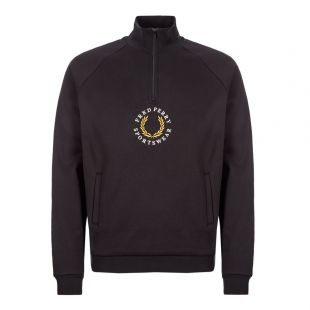 fred perry half-zip sweatshirt M7607 102 black