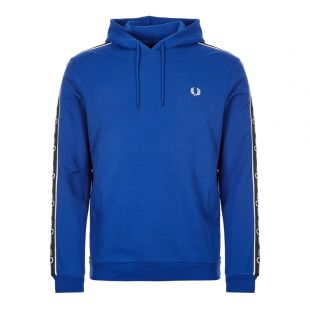 Fred Perry Taped Hoodie J7528|I88 In Regal Blue At Aphrodite Clothing