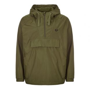 Fred Perry Jacket Ripstop Half-Zip J7523 G78 Dark Thorne Green