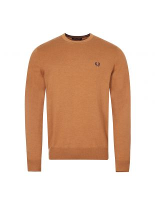 Fred Perry Crew Neck Jumper   K9601 450 Caramel