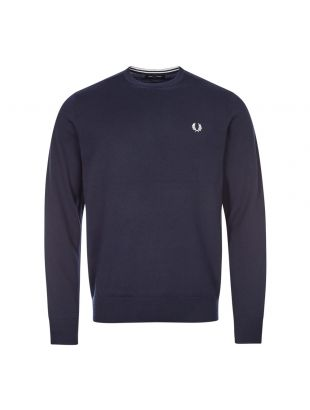 Fred Perry Crew Neck Jumper   K9601 608 Navy