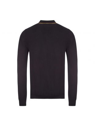Knitted Long Sleeve Polo Shirt - Black