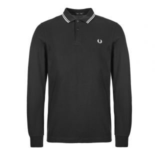 Fred Perry Long Sleeve Twin Tipped Polo Shirt M3636|102 Black At Aphrodite Clothing
