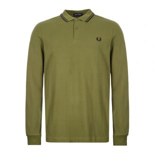 Fred Perry Long Sleeve Twin Tipped Polo Shirt M3636|H94 Cypres At Aphrodite Clothing