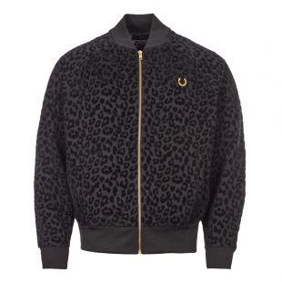 Fred Perry Miles Kane Track Jacket | SJ7007 I83 Leopard Black
