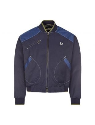 Fred Perry x Nicholas Daley Bomber Jacket | SJ9000 608 Navy