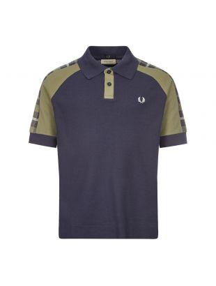 Fred Perry x Nicholas Daley Polo Shirt | SM9006 F36 Navy / Tartan