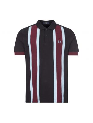 Fred Perry x Nicholas Daley Polo Shirt | M9597 102 Black / Maroon / Blue Stripe