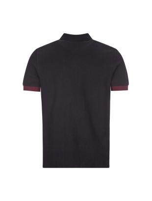 Nicholas Daley Polo Shirt - Black / Maroon / Blue Stripe