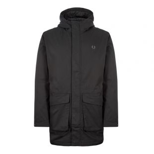 fred perry parka jacket J7513 102 black