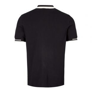 Polo Shirt Block Tipped - Black