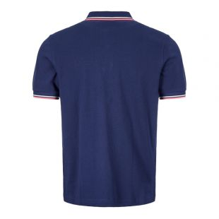 Polo Shirt Twin Tip - Navy / Pink / White