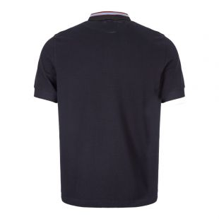 Polo Shirt Stripe Collar - Navy