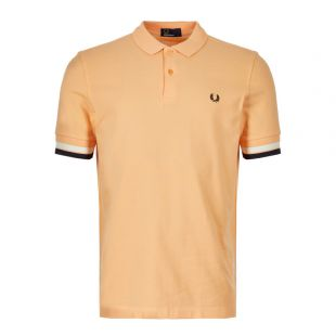 Fred Perry Polo Shirt M4566 D88 In Apricot Nectar