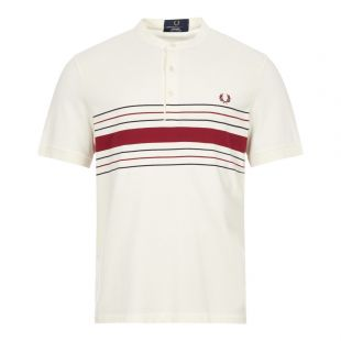 fred perry collarless polo shirt M8804 560 ecru