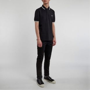 Fred Perry Twin Tip Polo - Black