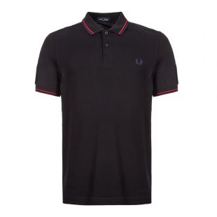 Fred Perry Twin Tipped Polo Shirt | M3600 J31 Black / Red / Navy
