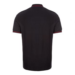 Twin Tipped Polo Shirt - Black / Red Navy