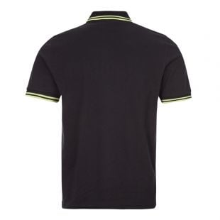 Polo Shirt Twin Tipped - Black / Acid Lime