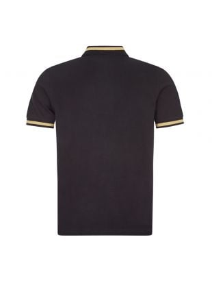 Polo Shirt Single Tipped - Black / Champagne