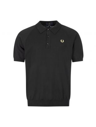 Fred Perry Knitted Polo Shirt | K7303 157 Black