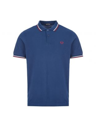fred perry polo shirt M3600 588 deep marine