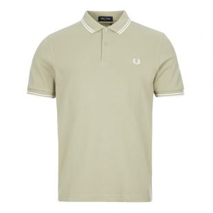 fred perry twin tipped polo shirt M3600 J84 sage