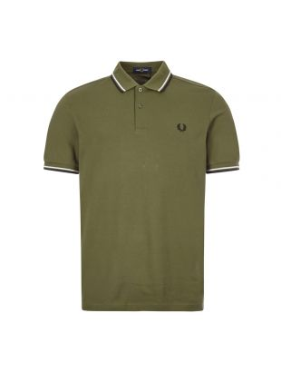 fred perry polo shirt M3600 K93 military green