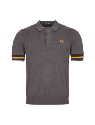 fred perry polo shirt knitted K9537 829 grey