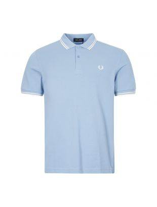 fred perry polo shirt twin tipped M3600 L15 blue