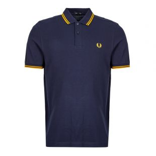 Fred Perry Twin Tipped Polo Shirt | M3600 266 Carbon Blue