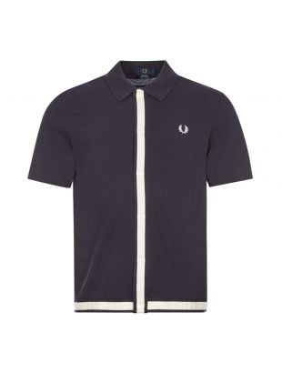 Polo Shirt Button Through - Navy