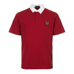 Fred Perry Polo Shirt M5581 H67 Deep Scarlet